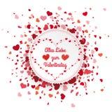 Emblem Confetti Hearts Cover Valentinstag Stock Image