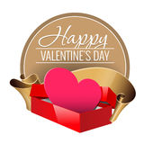 Emblem. Congratulations to the St. Valentine`s Day. Stock Image