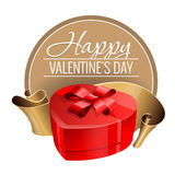 Emblem. Congratulations to the St. Valentine`s Day. Stock Photography