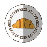 Emblem croissant bread icon. Illustraction design image Stock Images