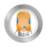 emblem customer support Icon image Royalty Free Stock Photos