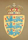 Emblem of Danemark stock images