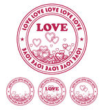 Emblem by day of Valentine 1 Royalty Free Stock Photography
