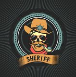 Emblem dead sheriff Stock Photos