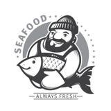 Emblem der kommerziellen Fischerei Lizenzfreies Stockbild