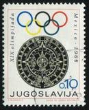 Emblem der Olympischen Spiele Stockfotos