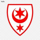 Emblem der Stadt von Deutschland lizenzfreie abbildung