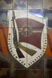 Emblem des Ministeriums für Staatssicherheit, die Ostdeutsche Geheimpolizei Stockbild