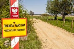 Emblem des Polnischen auf Grenze. Lizenzfreie Stockfotos