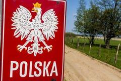Emblem des Polnischen auf Grenze. Lizenzfreie Stockfotografie