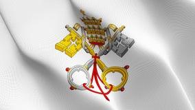 Emblem des Pontifikats fahnenschwenkend auf Wind lizenzfreie stockbilder