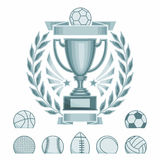 Emblem for different sports Stock Photos
