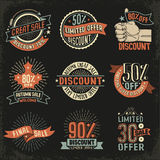 Emblem for discounts Royalty Free Stock Image