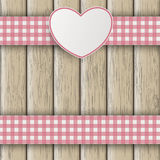 Emblem Double Cloth Valentinsday Wood Stock Photography
