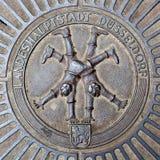 Emblem of Dusseldorf cartwheelers Royalty Free Stock Image