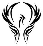 Emblem of an eagle in a shield Royalty Free Stock Image