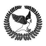 Emblem eagle sign icon Royalty Free Stock Image