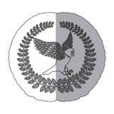 Emblem eagle sign icon Royalty Free Stock Photo