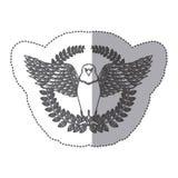Emblem eagle sign icon Stock Photography