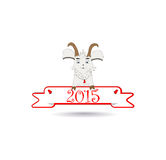 Emblem in 2015 on the eastern calendar goat. Art Royalty Free Stock Photos