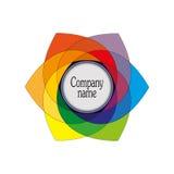 Emblem, ein Symbol von mehrfarbigem sechseckigem Stockfotografie