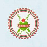 Emblem eller etikett för syrsasportbegrepp Arkivbild