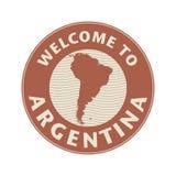 Emblem eller stämpel med textvälkomnande till Argentina vektor illustrationer