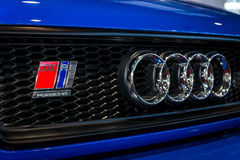 Emblem of an entry-level luxury car Audi RS 2 Avant, 1995. Royalty Free Stock Photo