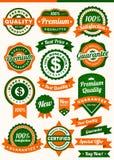 Emblem & etikett Royaltyfri Foto