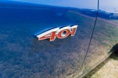 Emblem för AMC kastspjut 401 på skärm Fotografering för Bildbyråer