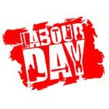 Emblem för arbets- dag av grungestil Internationell journal för arbetar`-dag Arkivfoton