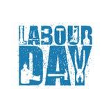 Emblem för arbets- dag av grungestil Internationell journal för arbetar`-dag Royaltyfria Foton