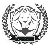 Emblem för Grungelejonhuvud Royaltyfri Bild