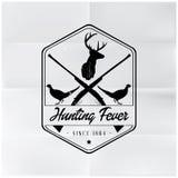 Emblem för jaktfeberemblem Royaltyfri Bild