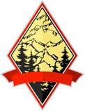Emblem för logo för expedition för vektorbergaffärsföretag campa vektor illustrationer