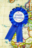 Emblem för lycklig födelsedag Royaltyfria Foton