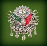 Emblem för ottomanvälde & x28; Gammalt turkiskt symbol & x29; fotografering för bildbyråer
