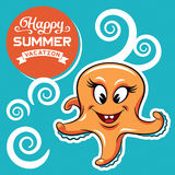 Emblem för sommarsemester Arkivfoton
