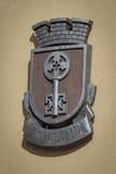 Emblem för vapensköldHaskovo Bulgarien Arkivfoto