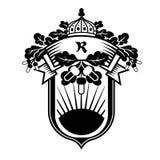 Emblem för vektordiagram med ekbevekelsegrunder Royaltyfri Fotografi