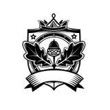 Emblem för vektordiagram med ekbevekelsegrunder Arkivfoto
