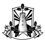 Emblem för vektordiagram med ekbevekelsegrunder Arkivfoton
