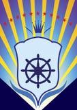 Emblem för yachtklubba Royaltyfri Fotografi