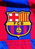 Emblem of FC Barcelona. Colorful badge of Football Club FC Barcelona, Spain Stock Image
