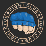 Emblem about fighting club. Monochrome graphic style Royalty Free Stock Image