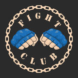 Emblem about fighting club. Monochrome graphic style Stock Image