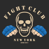 Emblem about fighting club. Monochrome graphic style Royalty Free Stock Images