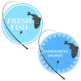 Emblem for fishing Royalty Free Stock Image