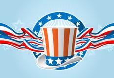 emblem fjärde juli Arkivfoto