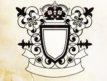 Emblem with flowers Stock Photos